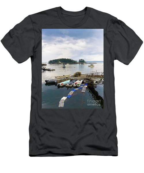 Harbor At Georgetown Five Islands, Georgetown, Maine #60550 Men's T-Shirt (Athletic Fit)