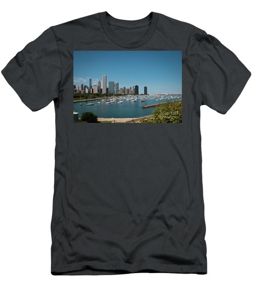 Harbor Parking In Chicago Men's T-Shirt (Athletic Fit)