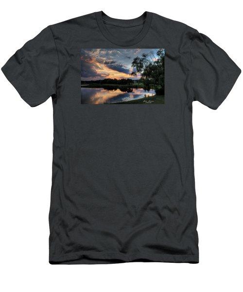 Harbor Reflections Men's T-Shirt (Slim Fit) by John Loreaux