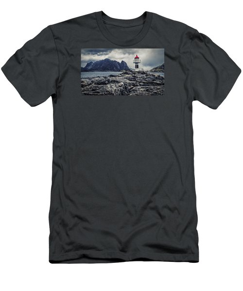Men's T-Shirt (Athletic Fit) featuring the photograph Harbour Lighthouse by James Billings