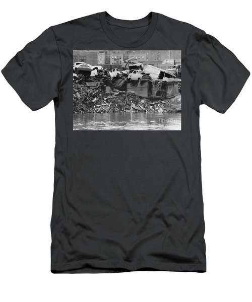 Harlem River Junkyard, 1967 Men's T-Shirt (Slim Fit) by Cole Thompson