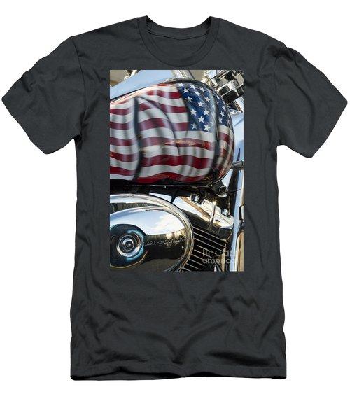 Harley Davidson 7 Men's T-Shirt (Slim Fit) by Wendy Wilton