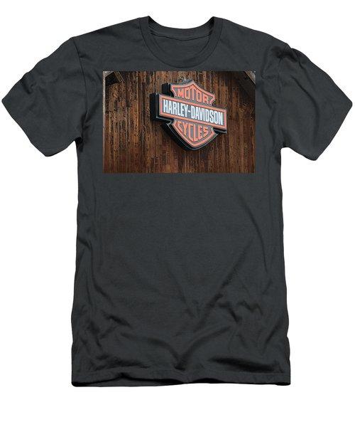 Harley Davidson Sign In West Jordan Utah Photograph Men's T-Shirt (Athletic Fit)