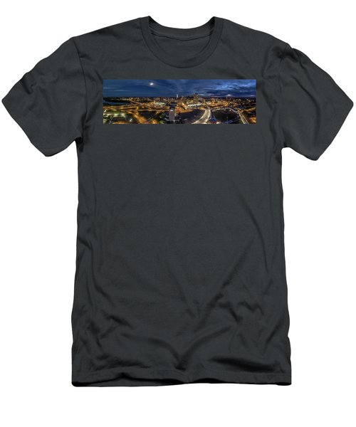 Men's T-Shirt (Slim Fit) featuring the photograph Hartford Ct Night Panorama by Petr Hejl