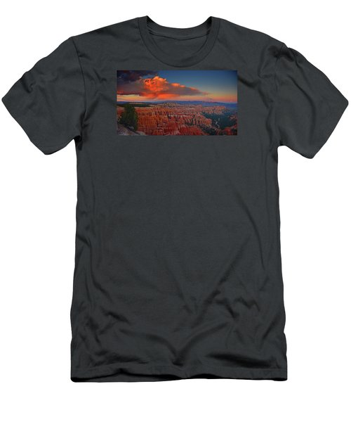 Harvest Moon Over Bryce National Park Men's T-Shirt (Slim Fit) by Raymond Salani III