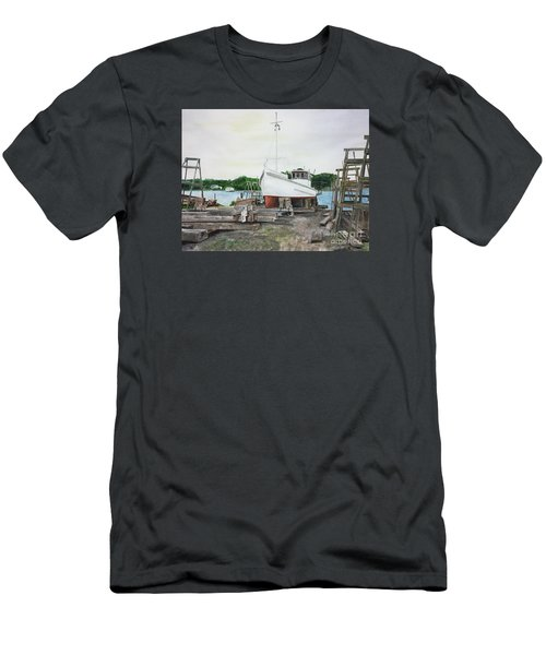 Men's T-Shirt (Slim Fit) featuring the painting Harvey A. Drewer by Stan Tenney