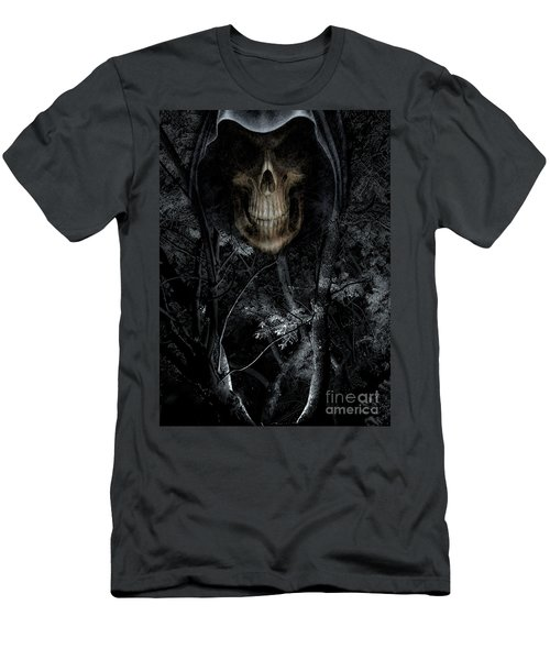 Men's T-Shirt (Slim Fit) featuring the photograph Haunted Forest by Al Bourassa