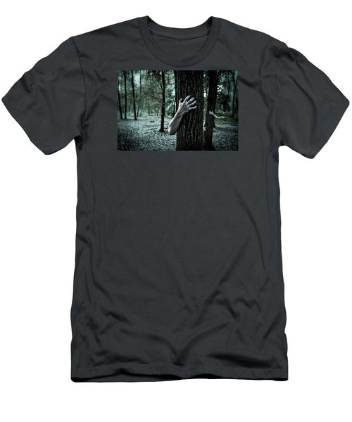 Haunted Forest  Men's T-Shirt (Athletic Fit)