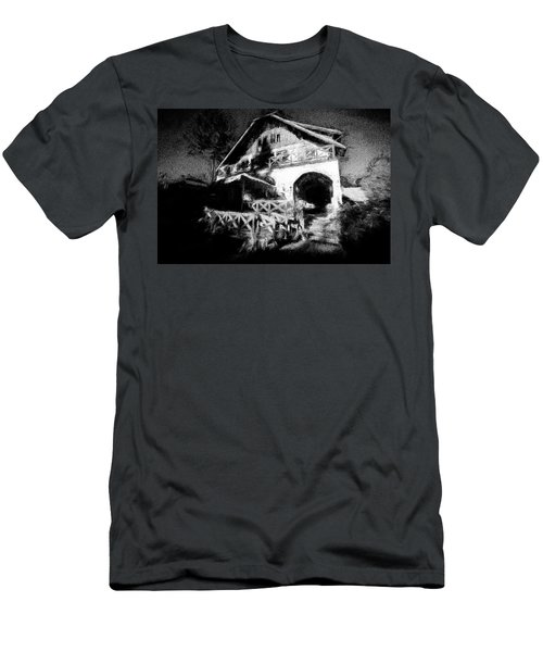 Haunted House Men's T-Shirt (Slim Fit) by Celso Bressan