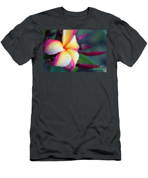 Men's T-Shirt (Slim Fit) featuring the photograph Hawaii Plumeria Flower Jewels by Sharon Mau
