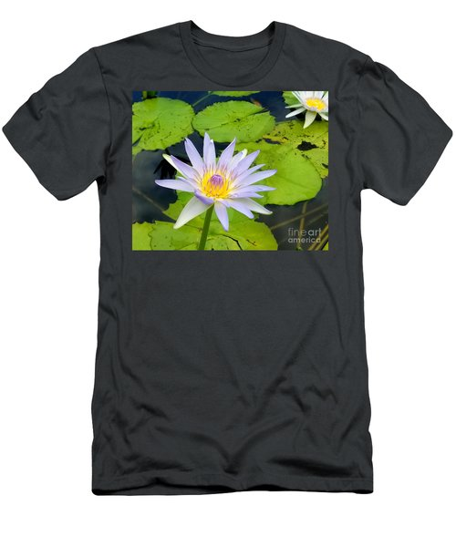Hawaiian Lotus Men's T-Shirt (Athletic Fit)