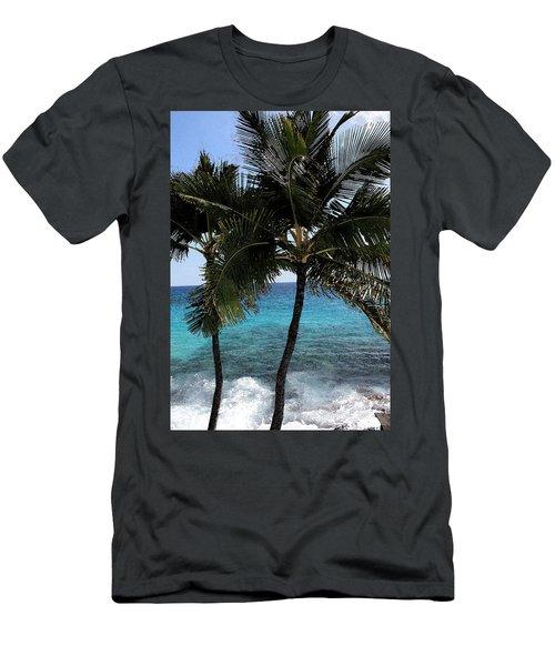 Men's T-Shirt (Slim Fit) featuring the photograph Hawaiian Palm Trees - All Images Copyright Karen L. Nicholson by Karen Nicholson