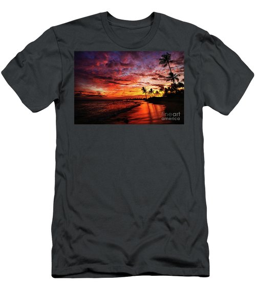 Men's T-Shirt (Athletic Fit) featuring the photograph Hawaiian Sunset by Miles Whittingham