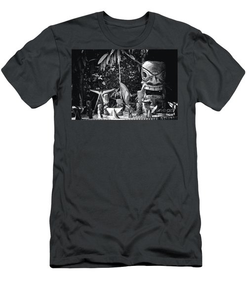 Men's T-Shirt (Slim Fit) featuring the photograph Hawaiian Tiki Carvings by Sharon Mau