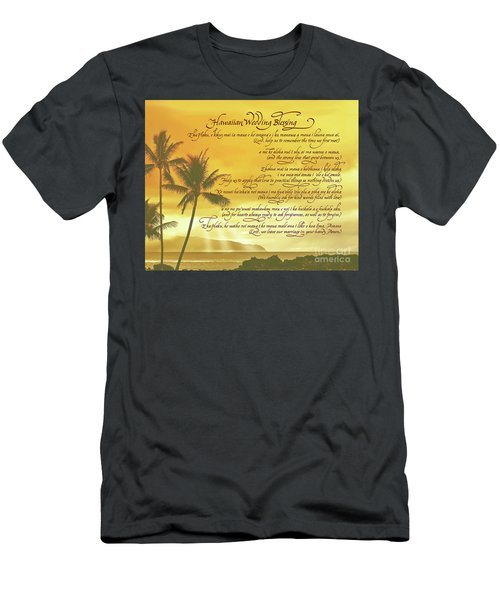 Hawaiian Wedding Blessing-sunset Men's T-Shirt (Athletic Fit)