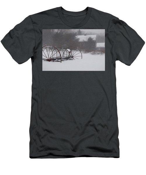 Hay Rake In The Snow Men's T-Shirt (Slim Fit) by Joy Nichols