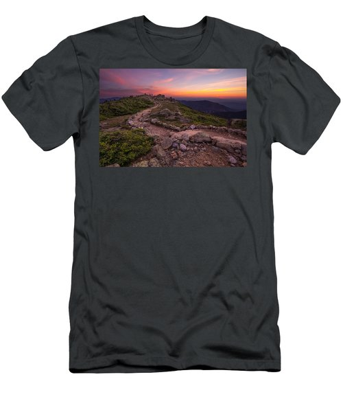 Haystack Sunset Men's T-Shirt (Athletic Fit)
