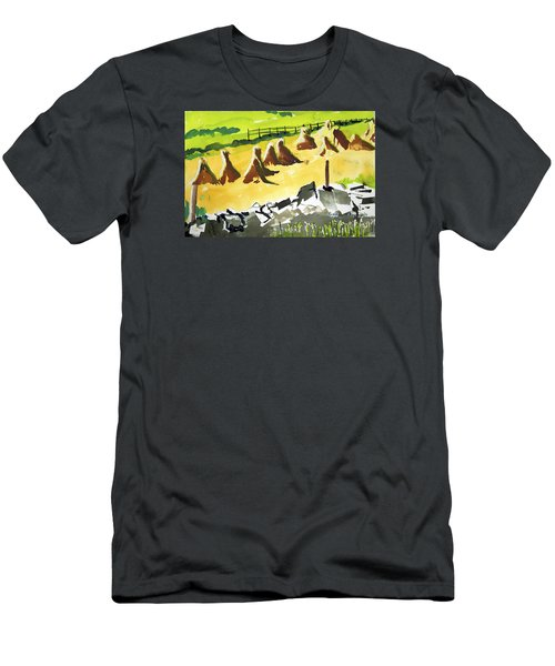 Haystacks And Wall Men's T-Shirt (Athletic Fit)