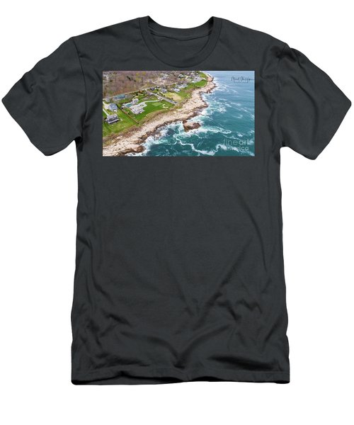 Hazard Rocks, Narragansett  Men's T-Shirt (Athletic Fit)