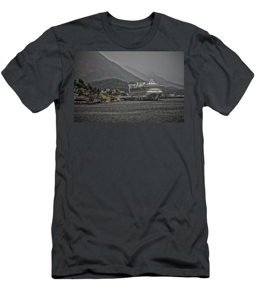 Hazy Day In Paradise  Men's T-Shirt (Slim Fit) by Timothy Latta