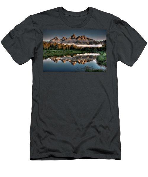 Hazy Reflections At Scwabacher Landing Men's T-Shirt (Athletic Fit)