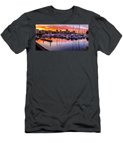 Hdr Sunset On Thea Foss Waterway Men's T-Shirt (Athletic Fit)