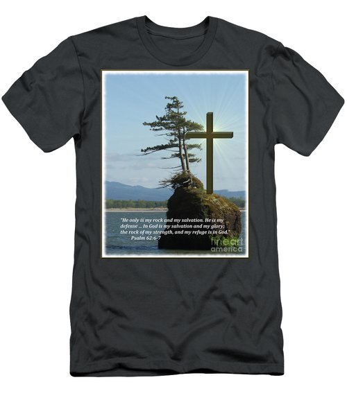 He Is My Rock And My Salvation Men's T-Shirt (Athletic Fit)