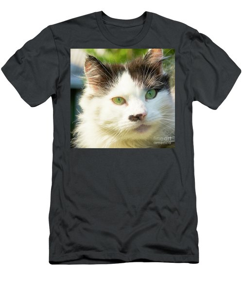 Head Of Cat Men's T-Shirt (Slim Fit) by Irina Afonskaya
