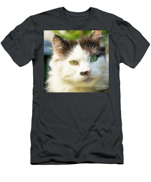 Head Of Cat Men's T-Shirt (Athletic Fit)