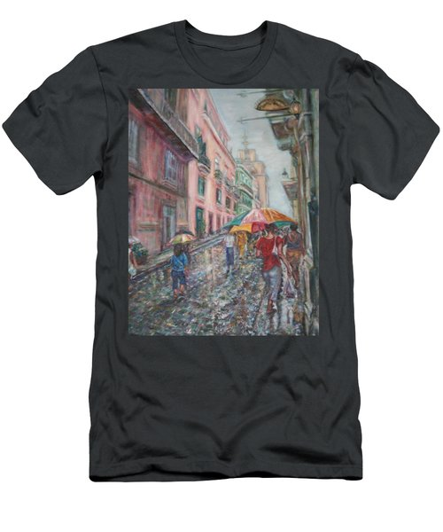 Heading Home In Havava Men's T-Shirt (Slim Fit) by Quin Sweetman