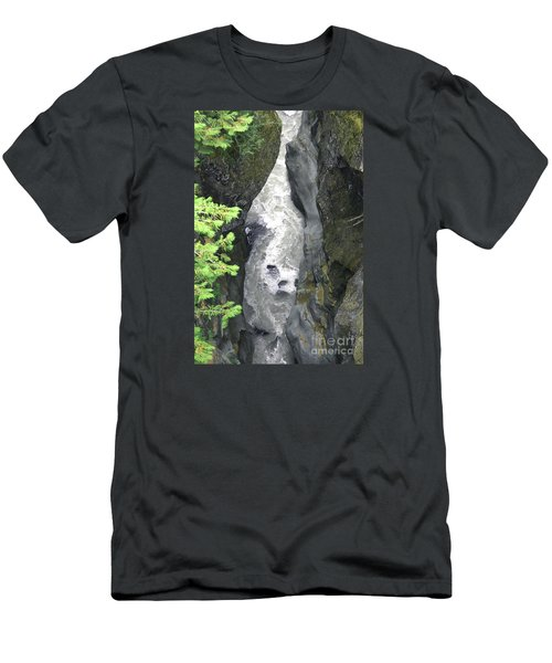 Headwaters Of The Cowlitz River Men's T-Shirt (Slim Fit) by Rich Collins