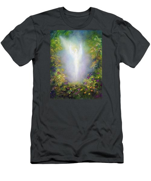 Men's T-Shirt (Slim Fit) featuring the painting Healing Angel by Marina Petro