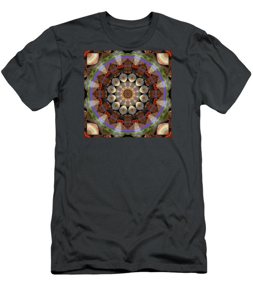 Men's T-Shirt (Slim Fit) featuring the photograph Healing Mandala 30 by Bell And Todd