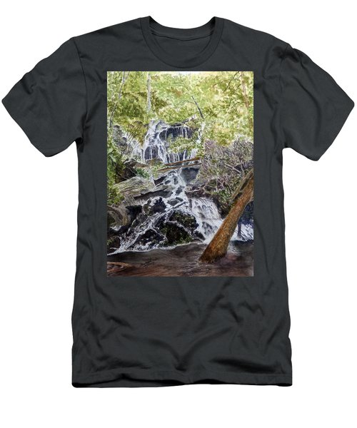 Men's T-Shirt (Athletic Fit) featuring the painting Heart Of The Forest by Joel Deutsch