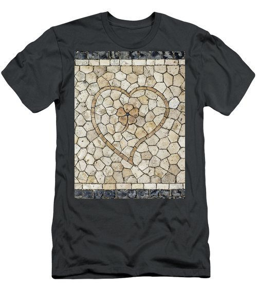 Heart Shaped Traditional Portuguese Pavement Men's T-Shirt (Athletic Fit)