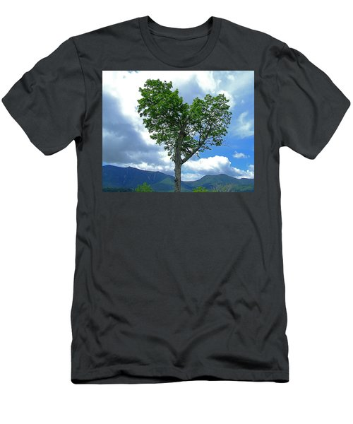 Heart Shaped Tree Men's T-Shirt (Athletic Fit)