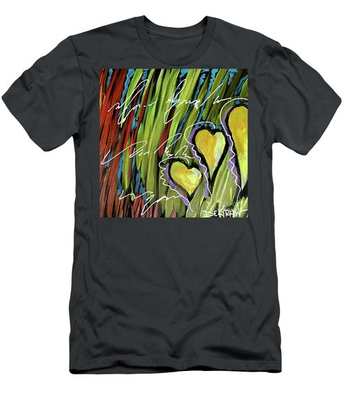 Hearts In The Grass Men's T-Shirt (Athletic Fit)