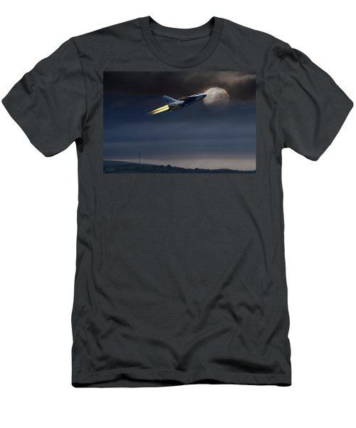 Men's T-Shirt (Slim Fit) featuring the digital art Heat Of The Night by Peter Chilelli