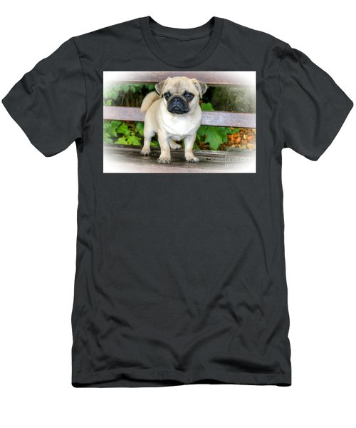 Heathcliff The Pug Men's T-Shirt (Athletic Fit)