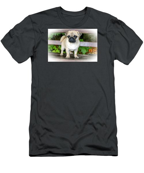 Heathcliff The Pug Men's T-Shirt (Athletic Fit)