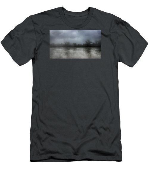 Heavy Rain Over A River Men's T-Shirt (Athletic Fit)