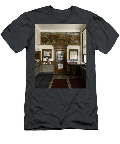 Hebron Nebraska Post Office Mural Men's T-Shirt (Athletic Fit)