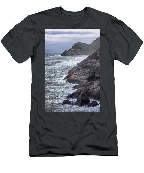 Heceta Head Light - Color Men's T-Shirt (Athletic Fit)