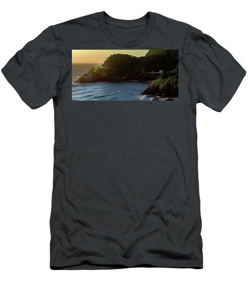 Heceta Head Lighthouse Men's T-Shirt (Athletic Fit)