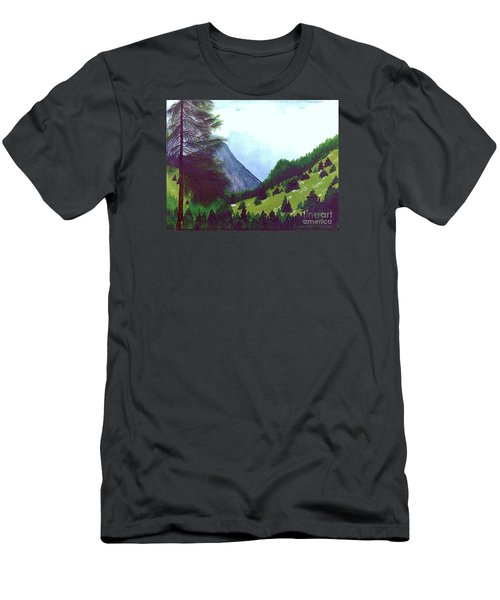 Men's T-Shirt (Slim Fit) featuring the painting Heidi's Place by Patricia Griffin Brett