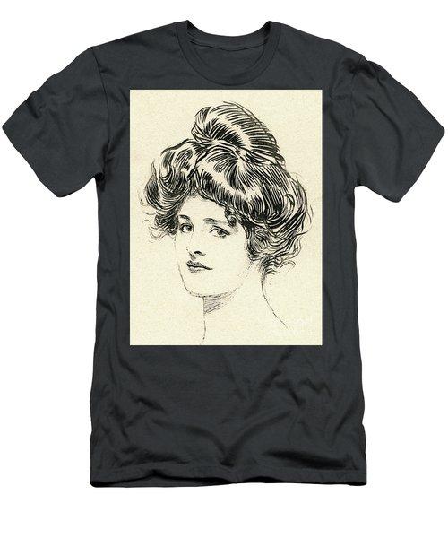 Helen, A Gibson Girl Men's T-Shirt (Athletic Fit)