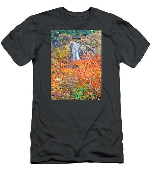 Helen Hunt Falls Autumn V Bridge Men's T-Shirt (Athletic Fit)