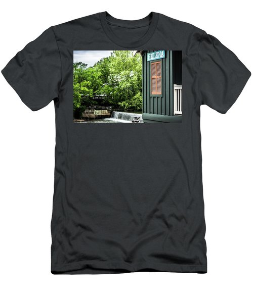 Men's T-Shirt (Slim Fit) featuring the photograph Helena Sign By Buck Creek by Parker Cunningham