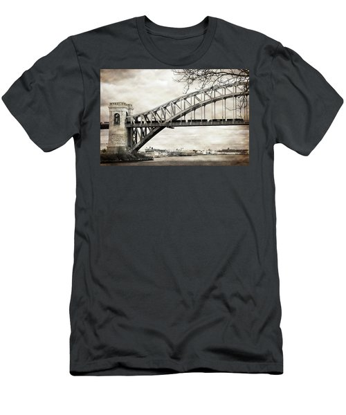 Hellgate Bridge In Sepia Men's T-Shirt (Athletic Fit)