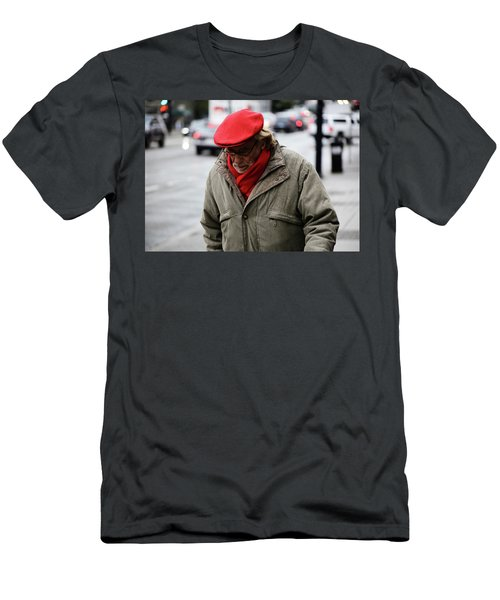 Men's T-Shirt (Slim Fit) featuring the photograph Hello Bonjour  by Empty Wall